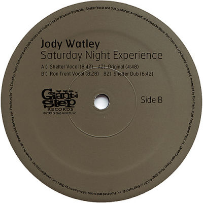 Jody Watley Saturday Night Experience Giant Step Records