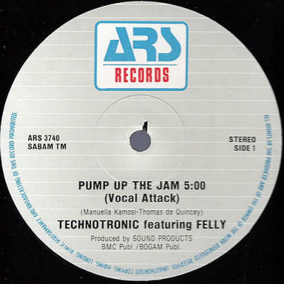 Technotronic Feat Felly Pump Up The Jam Ars Productions