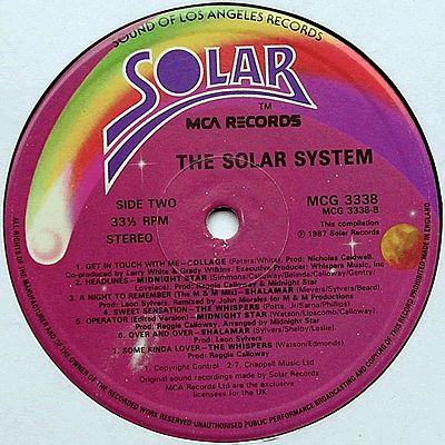 Various Artistes The Solar System Mca Records