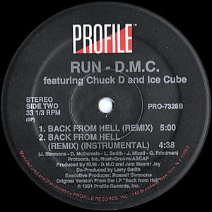 RUN DMC - Faces/Back From Hell Remix - Profile Records