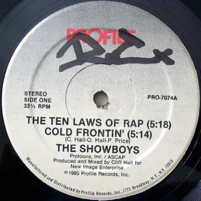 The Showboys - The Ten Laws Of Rap / Cold Frontin'