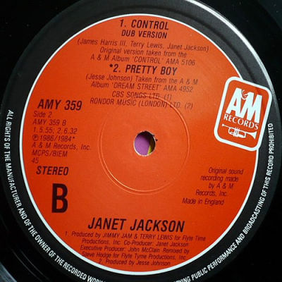 Janet Jackson Control A Amp M Records