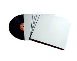 "12""/LP Cardboard Sleeve Plain White with Spine"
