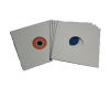 "12""/Lp Card Sleeve White with Centerhole"