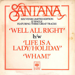 "SANTANA - Well All Right ( Souvenir Limited 12"" Edition )"