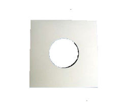 "7"" Card Sleeve White with Centerhole"